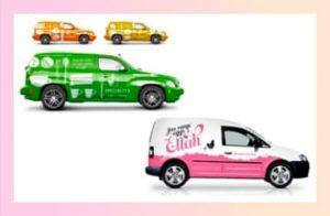 Оклейка автомобилей рекламой
